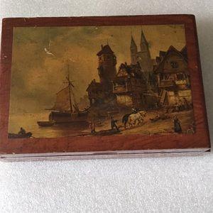 Vintage rose wood jewelry box